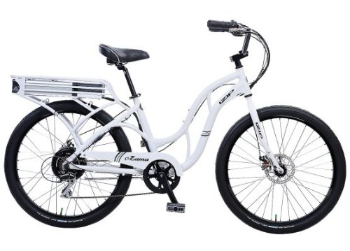 IZIP E3 Zuma - Low Step Beach Cruiser Electric Bicycle - White