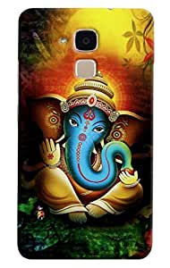 Omnam Lord Ganesha Statue In Blessings Printed Designer Back Cover Case For Huawei Honor 5C