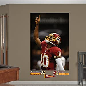 NFL Washington Redskins Robert Griffin III Point Mural Wall Graphics by Fathead