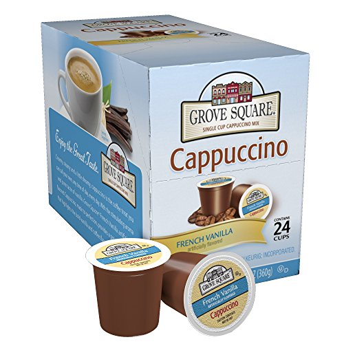 Grove Square Cappuccino, French Vanilla, 24 Count Single Serve Cups (Sugar Free Cocoa Keurig compare prices)