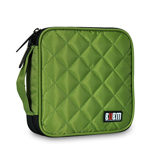 bubm-portable-water-resistant-32-disc-cd-dvd-vcd-dj-storage-media-holder-case-with-carry-handle-gree