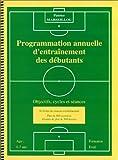 Football, programmation annuelle d'entraînement des débutants : objectifs, cycles et séances...