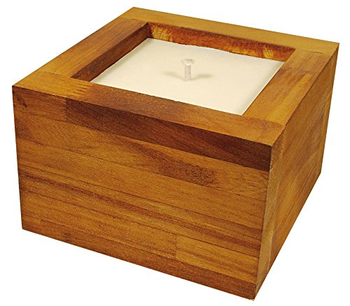 TEKA Outdoor Citronella Teak Wooden Candle (Large TEKA Candle)
