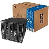 Vantec 5 x 3.5 Inches SAS/SATA SSD/HDD 3 Bay Aluminum Mobile Rack (MRK-M3505T)