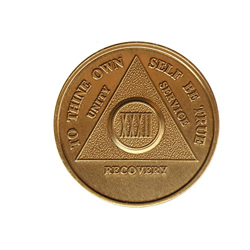 32 Year Bronze AA (Alcoholics Anonymous) - Sober / Sobriety / Birthday / Anniversary / Recovery / Medallion / Coin / Chip - 1