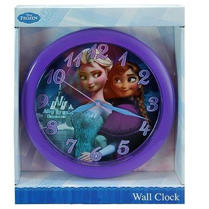 Disney Frozen 10 inch Round Wall Clock in Open Window Box