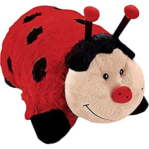 Pillow pets pee wees ladybug toys games for Amazon com pillow pets