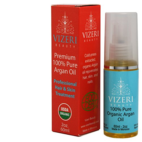Virgin Argan Oil for Hair, Skin, Nails: Luxury 100% Pure Organic Argan Oil. USDA & Ecocert Certified. Use for Anti-wrinkle, Hair Growth and Anti-frizz, Moisturizer for Dry Skin, Face, Anti-aging, Natural Skin Care, Cuticle Oil, Beard Oil, Stretch Mark Oil, Scar Oil, Vitamin E Oil.