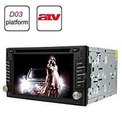 See Rungrace Universal 6.2 inch 2 Din TFT Screen In-Dash Car DVD Player with RDS / Bluetooth / ATV Details
