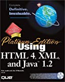 img - for Platinum Edition Using HTML 4, XML, and Java 1.2 book / textbook / text book