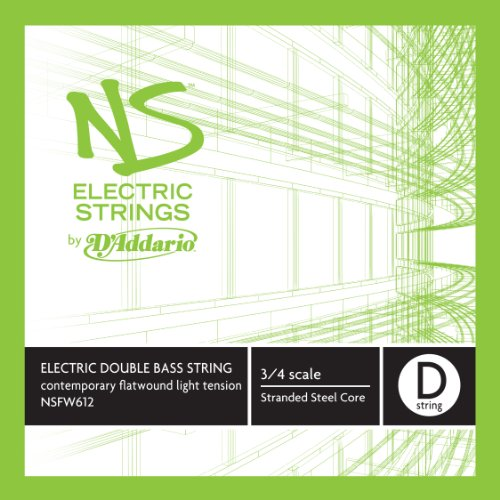 D'Addario Ns Electric Contemporary Bass Single D String, 3/4 Scale, Medium Tension