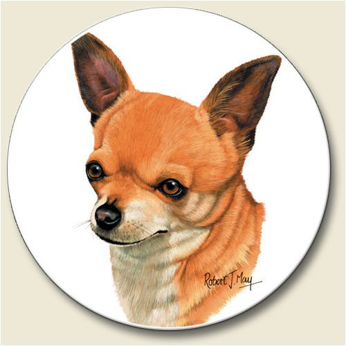 AutoCoaster ~ Chihuahua ~ Tile Drink Coaster for car cupholder - code 842