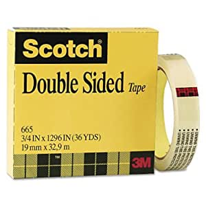 Scotch Double Sided Tape, 3/4 x 1296 Inches, Boxed (665)