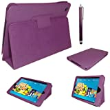 Stuff4 PU Leather Professional Portfolio Magnetic Case/Stand Cover for Kindle Fire - Purple