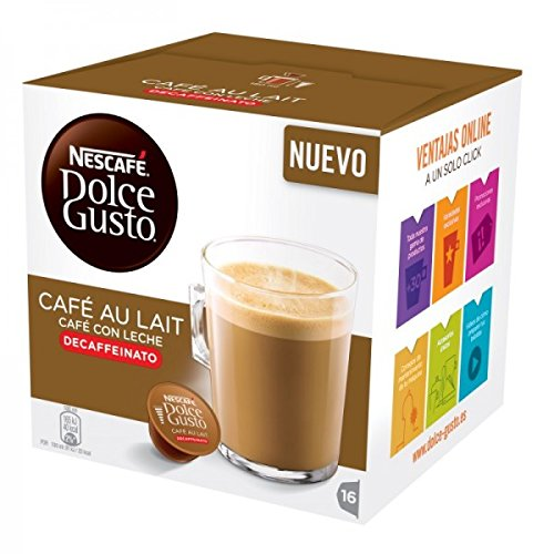 Find Nescafe DOLCE GUSTO Pods / Capsules - CAFE AU LAIT DECAF = 16 pods (pack of 3) by Nestlé Portugal SA
