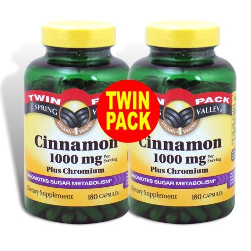 Spring Valley – Cinnamon 1000 mg, Plus Chromium,