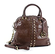 Hot Sale Michael Kors Mocha Leather Uptown Astor LG Satchel Handbag