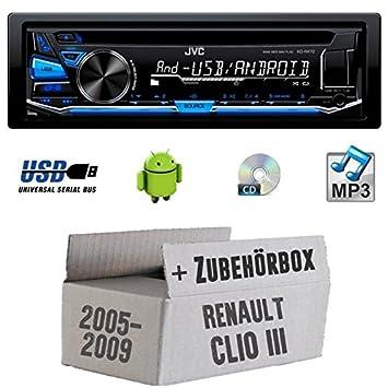 Renault Clio 3 - JVC KD-R472E - CD/MP3/USB Autoradio - Einbauset