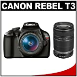514CXVvMvEL. SL160  Canon EOS Rebel T3 MP CMOS Digital SLR with 18 55mm IS II Lens + Canon EF S 55 250mm f/4.0 5.6 IS Telephoto Zoom Lens 12.2