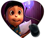 Despicable Me, Agnes Eyes Mouse Pad, Durable Heart-Shaped Mouse Pad