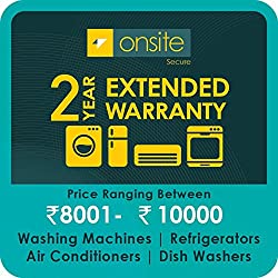 Onsite 2-year extended warranty for Large Appliance (Rs. 8001 to < 10000)