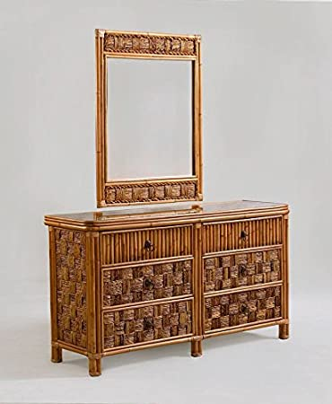 Tahiti Wicker and Rattan 6 Drawer Dresser