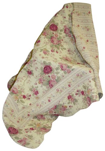 For Sale! Greenland Home Antique Rose Quilted Patchwork Throw