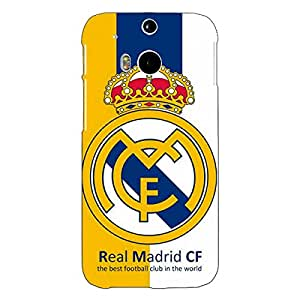 Jugaaduu Real Madrid Back Cover Case For HTC One M8 Eye