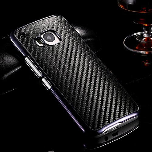 M9 Luxury Carbon Fiber Case With Chromed Metallic Plating Frame Edge For Htc One M9 Hybrid Back Cover Smooth Weave Case Capa Black-black