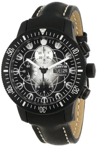 Fortis Men's 638.28.17 L.01 B-42 Official Cosmonauts Black Art-Edition-Dial Automatic Chronograph Watch