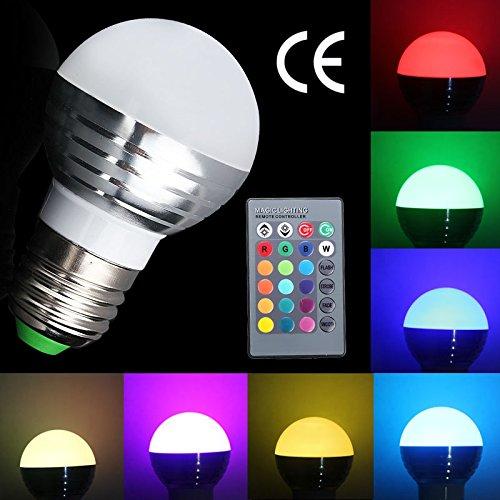 Stone H E27 3W LED RGB Licht Birne SMD LEDs LED farbwechsel Lampe Leuchtmittel mit IR-Fernbedienung