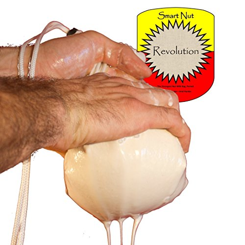 Fine Mesh Sieve Nut Milk Bag - 128 OZ Capacity! Nylon Cheesecloth, Chinois, Tofu Press Alternative- Crafts Soymik, Almond, Cashew Milk - Kefir, Cheese Strainer - Sprouting Bag - Pouring Pitcher filter (Almond Milk Press compare prices)