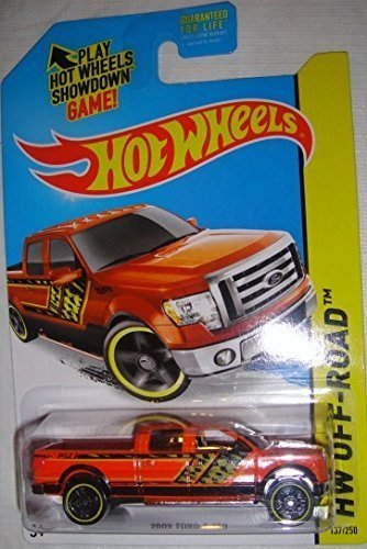 HOT WHEELS ORANGE 2014 RELEASE 2009 FORD F-150 OFF-ROAD SERIES DIE-CAST