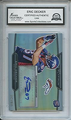 Eric Decker Autographed Denver Broncos Trading Card - Encapsulated & Certified Authentic