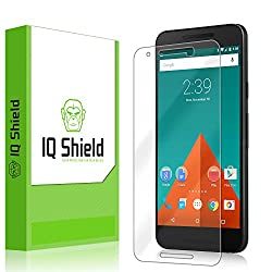 IQ Shield LiQuidSkin - LG Nexus 5X Screen Protector [2015] & Warranty Replacements - HD Ultra Clear Film - Protective Guard - Extremely Smooth / Self-Healing / Bubble-Free Shield