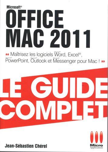 Office Mac 2011 avec Mac OS X LION