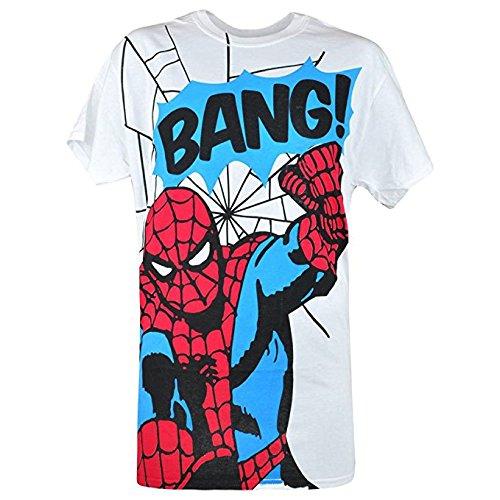 Spider-Man Marvel Comics welovefine Web Slinger Mens White T shirt size Small