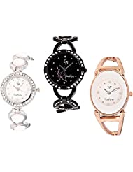 CB Fashion Combo Of Analog Multicolour Dial Women's Watch (RW215)