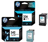 HP 336 / HP 342 Black / Colour Multipack - 2 Original Printer Ink Cartridges for HP Deskjet 5420 5420V 5432 5440 5440V 5440XI 5442 5443 D4100 D4145 D4155 D4160 D4163 Officejet 6300 6301 6304 6305 6307 6308 6310 6310V 6310XI 6313 6315 6318 Photosmart 7800