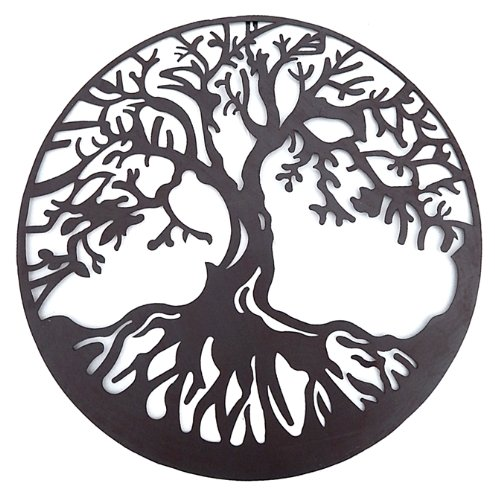 Tree of Life Metal Wall Hanging Sculptures Garden Art 24 Inches 1310