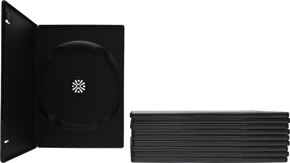 10 SLIM Black Single DVD Cases 7MM vapeberry slim black