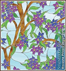 Biscayne 24 in x 43 in Privacy Stained Glass Window Film from Wallpaper For WindowsTM