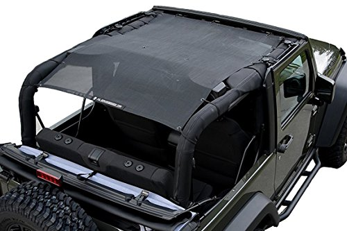 Alien Sunshade Jeep Wrangler Mesh Bikini Top Cover Provides UV Protection for Your 2-Door JK (2007-2017) JKFB (Screen Door Bar For Camper compare prices)