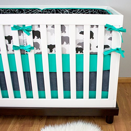 Modified Tot Crib Bedding, Black Bear