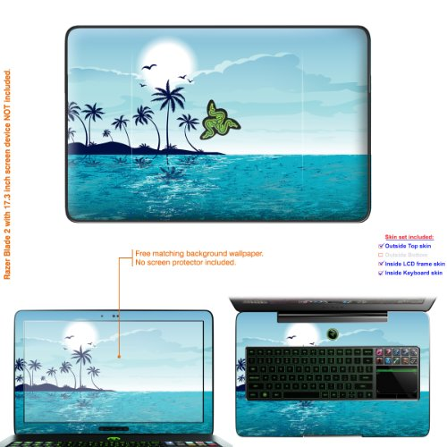 Decalrus Matte Protective Decal Skin Sticker for Razer Blade 2 RZ09 with 17.3in Screen (IMPORTANT: to get correct skin for your laptop Must view IDENTIFY image) case cover Matte-Razerblade2-274