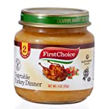 First Choice Baby Food Vegetable Turkey Dinner Stage 2, 12 Pack