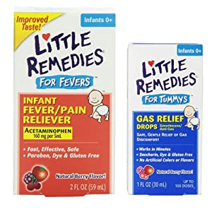 Amazon Com Little Remedies Fever Pain Reliever With Tummy Gas Relief Drops Baby