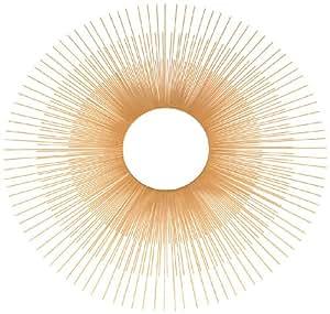 Ashton Sutton Wall Mirror, Gold Metal Sunburst Rays