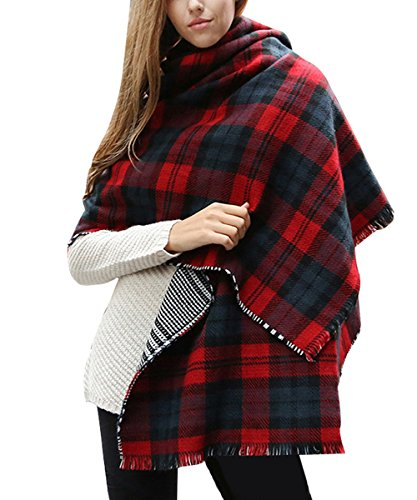 isassy-womens-reversible-thick-cashmere-scarves-tartan-check-plaid-scottish-shawl-wrap-stole-winter-