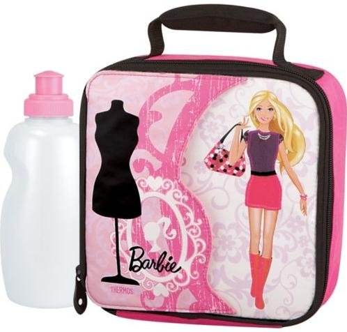 Thermos 5-Piece Barbie Novelty Dress Up Soft Lunch Kit